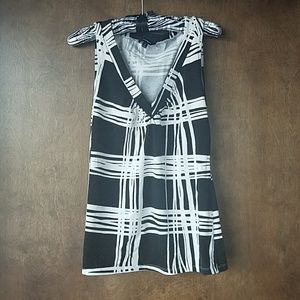Express black and white tank top